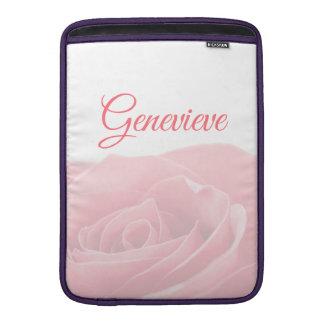 Capa Para MacBook Air Rosa bonito do rosa personalizado com luva