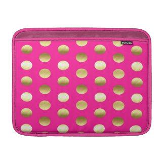 Capa Para MacBook Air Rosa quente das bolinhas grandes da folha de ouro