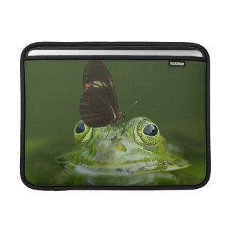 Capa Para MacBook Air Sapo verde e borboleta