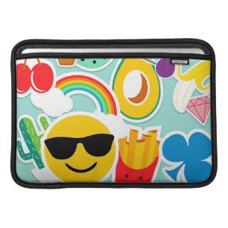 Capa Para MacBook Air Teste padrão da etiqueta de Emoji do divertimento