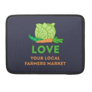 Capa Para MacBook Ame seu mercado local dos fazendeiros