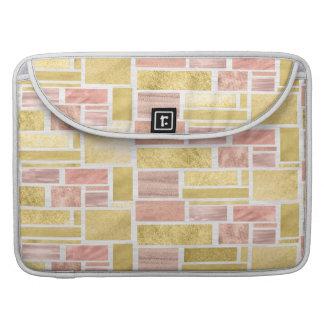 Capa Para MacBook Blocos cor-de-rosa da folha de ouro do ouro na