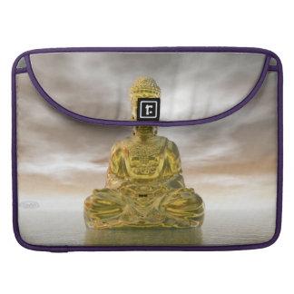 Capa Para MacBook Buddha dourado - 3D rendem