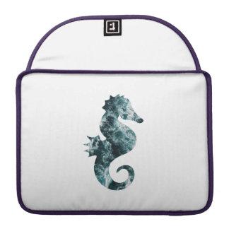 Capa Para MacBook Cavalo marinho abstrato do aqua