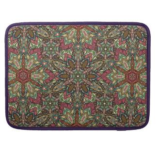 Capa Para MacBook Design floral do teste padrão do abstrato da