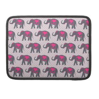 Capa Para MacBook Elefantes cor-de-rosa quentes cinzentos bonito em