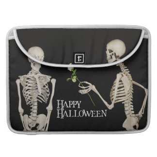 Capa Para MacBook Esqueletos o Dia das Bruxas feliz romântico