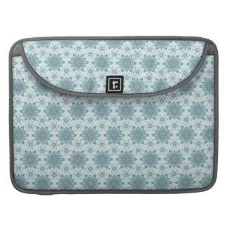Capa Para MacBook Flores azuis - luva de Macbook do rickshaw