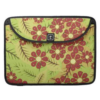 Capa Para MacBook Folha e flores
