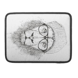 Capa Para MacBook Leão legal (preto e branco)
