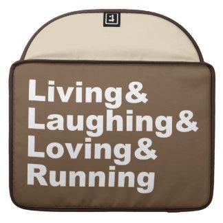 Capa Para MacBook Living&Laughing&Loving&RUNNING (branco)