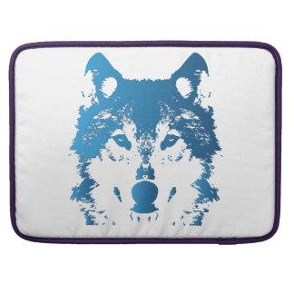 Capa Para MacBook Lobo do azul de gelo da ilustração