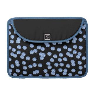 """Capa Para MacBook Luva 13"""" de Macbook das bolinhas azuis pro"""