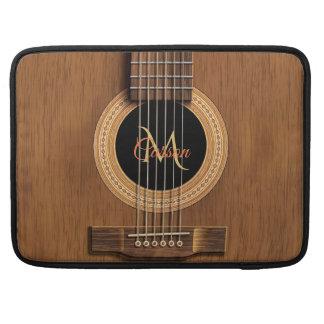 Capa Para MacBook Luva de madeira de mogno de Macbook da guitarra