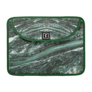 Capa Para MacBook Luva de pedra de mármore verde de Macbook do