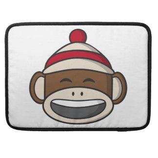 Capa Para MacBook Macaco grande Emoji da peúga do sorriso