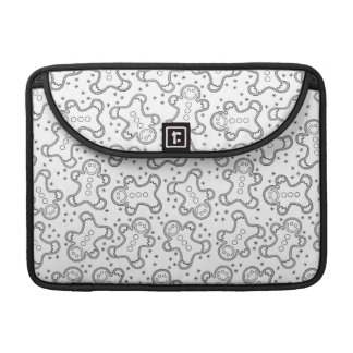 Capa Para MacBook Pão-de-espécie preto e branco bonitos do Natal