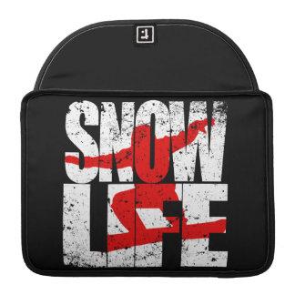 Capa Para MacBook Pensionista vermelho da VIDA da NEVE (branco)