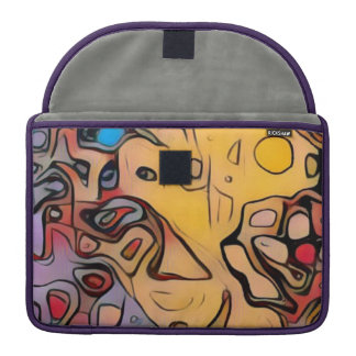 Capa Para MacBook Pro Abstrato Funky do amarelo
