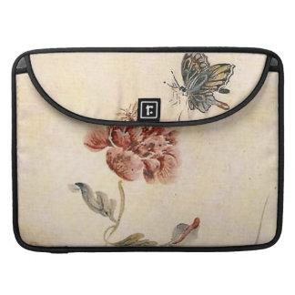 Capa Para MacBook Pro Aguarela da abelha, da borboleta e da papoila do