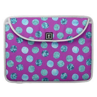 Capa Para MacBook Pro Bolinhas do gelo do inverno roxas