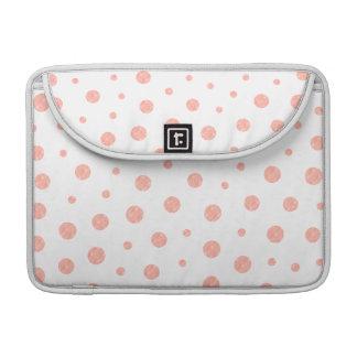 Capa Para MacBook Pro Bolinhas elegantes - branco cor-de-rosa macio do