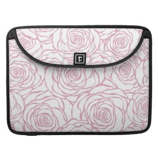 Capa Para MacBook Pro bonito, floral.pink, branco, peônias, femininos,