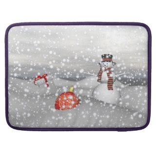 Capa Para MacBook Pro branco e presente do boneco de neve