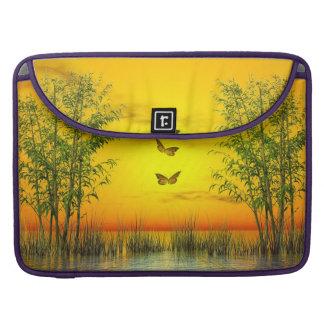 Capa Para MacBook Pro Butterlflies pelo por do sol - 3D rendem