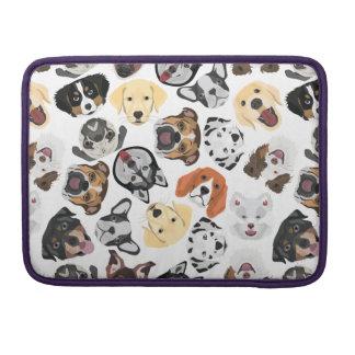 Capa Para MacBook Pro Cães do teste padrão da ilustração