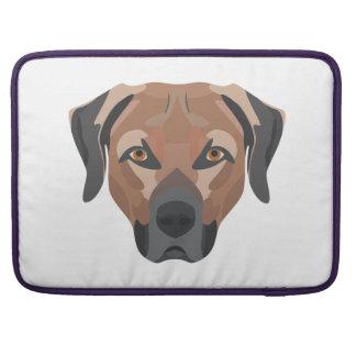 Capa Para MacBook Pro Cão Brown Labrador da ilustração