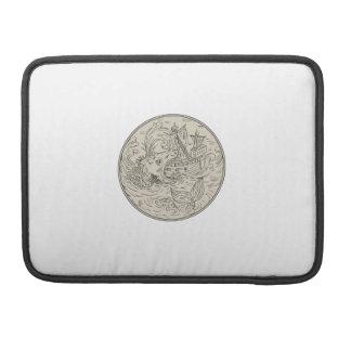 Capa Para MacBook Pro Círculo de ataque antigo do navio de navigação do