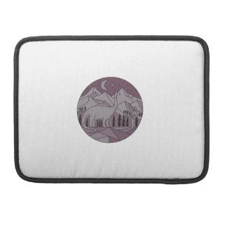 Capa Para MacBook Pro Círculo mono L da lua da montanha do Brontosaurus