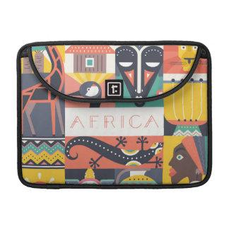 Capa Para MacBook Pro Colagem simbólica africana da arte