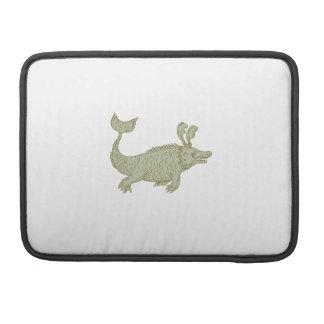 Capa Para MacBook Pro Desenho antigo do monstro de mar