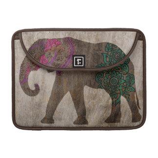 Capa Para MacBook Pro Elefante asiático tribal do zen