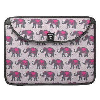 Capa Para MacBook Pro Elefantes cor-de-rosa quentes cinzentos bonito em