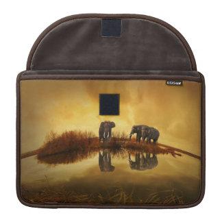 Capa Para MacBook Pro Elefantes luva de Macbook da reflexão do por do