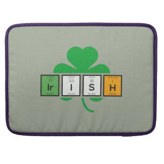 Capa Para MacBook Pro Elemento químico Zz37b do cloverleaf irlandês