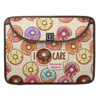 Capa Para MacBook Pro Eu doce engraçado bonito da rosquinha do cuidado