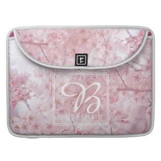 Capa Para MacBook Pro Flores de cerejeira rosas pálido da dama de honra