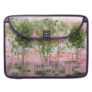 Capa Para MacBook Pro Flores e bambus de Lotus - 3D rendem