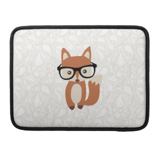 Capa Para MacBook Pro Fox w/Glasses do bebê do hipster