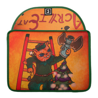 Capa Para MacBook Pro Gato do duende do Natal
