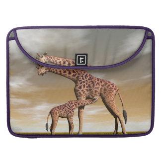 Capa Para MacBook Pro Girafa da mãe e do bebê - 3D rendem