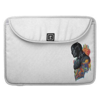 Capa Para MacBook Pro Grafites tribais da pantera preta de pantera preta