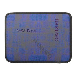 Capa Para MacBook Pro HAMbWG - luva de Macbook do rickshaw - azul