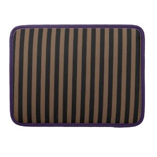 Capa Para MacBook Pro Listras finas - preto e café