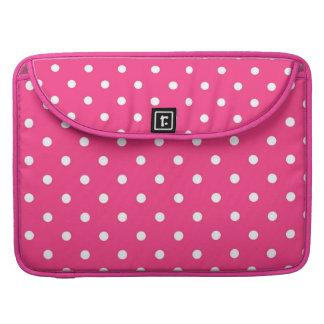 Capa Para MacBook Pro Luva cor-de-rosa & branca fúcsia de Macbook das