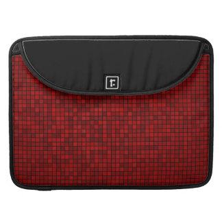 Capa Para MacBook Pro Luva vermelha de Macbook do teste padrão do pixel